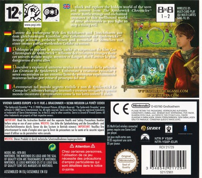 The Spiderwick Chronicles DS backM (YS8P)
