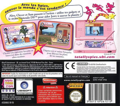 Totally Spies! 3 - Secret Agents DS backM (YTSP)