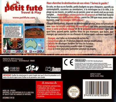 Petit Fute - Travel and Play DS backM (YYFF)