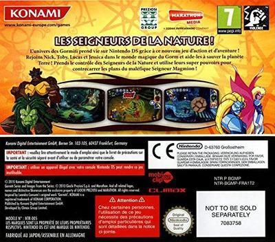 Gormiti - Les Seigneurs De La Nature! DS backM (BGMP)