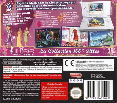 Totally Spies! 4 - Autour du monde DS backM (CT4P)