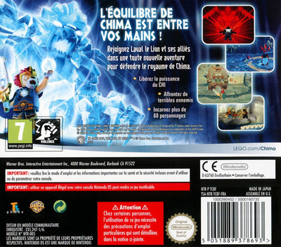 LEGO Legends of Chima - Le Voyage de Laval DS backM (TCBF)