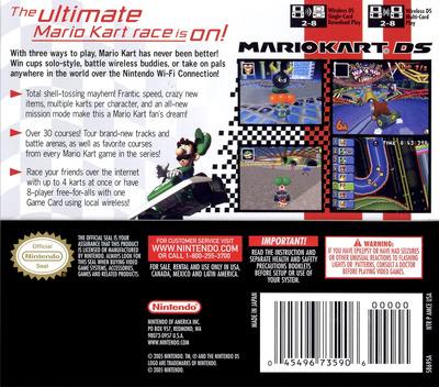 Mario Kart DS (Demo) DS backM (A39E)