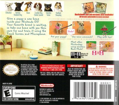 Nintendogs - Chihuahua & Friends DS backM (AD2E)