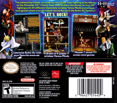 Guilty Gear - Dust Strikers DS backM (AG2E)