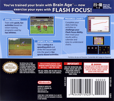 Flash Focus - Vision Training in Minutes a Day DS backM (AG3E)