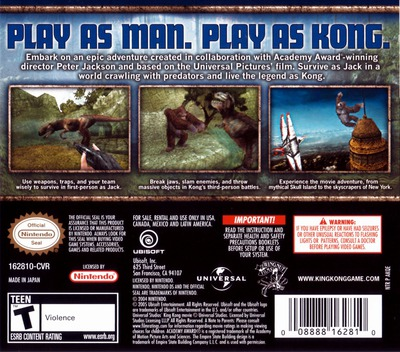 Peter Jackson's King Kong - The Official Game of the Movie DS backM (AKQE)