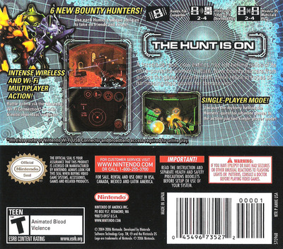 Metroid Prime - Hunters DS backM (AMHE)