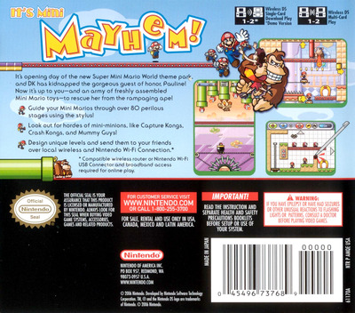 Mario vs. Donkey Kong 2 - March of the Minis DS backM (AMQE)