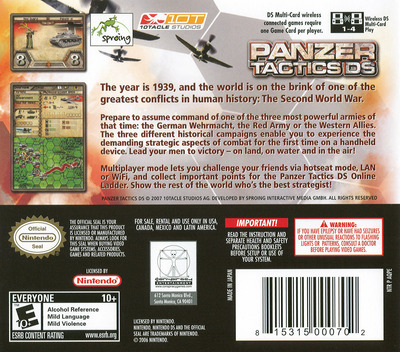 Panzer Tactics DS DS backM (AQPE)