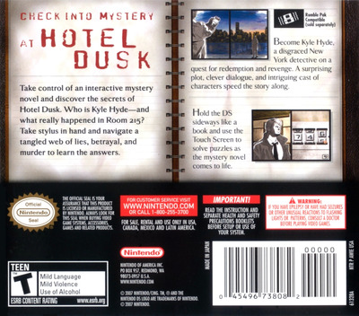 Hotel Dusk - Room 215 DS backM (AWIE)