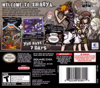 The World Ends with You DS backM (AWLE)