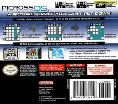 Picross DS DS backM (AXPE)