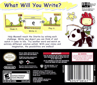 Scribblenauts DS backM (BSLE)