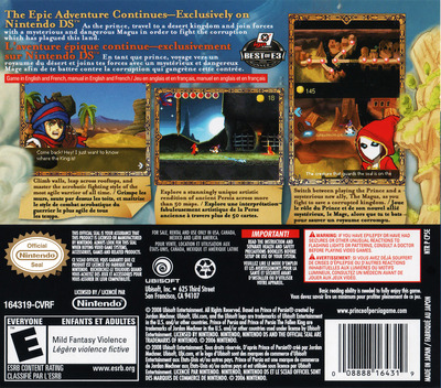 Prince of Persia - The Fallen King DS backM (CP5E)