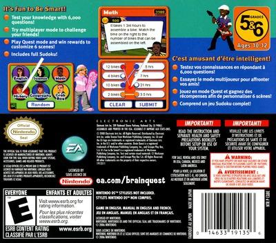 Brain Quest - Grades 5 & 6 DS backM (CQBE)