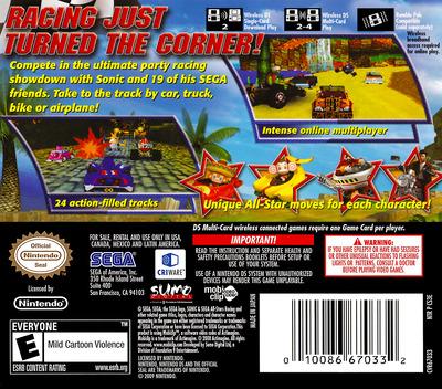 Sonic & Sega All-Stars Racing DS backM (CS3E)
