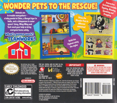 Wonder Pets! - Save the Animals! DS backM (CWAE)