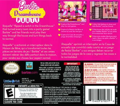 Barbie Dreamhouse Party DS backM (TBAE)