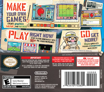 WarioWare - D.I.Y. DS backM (UORE)