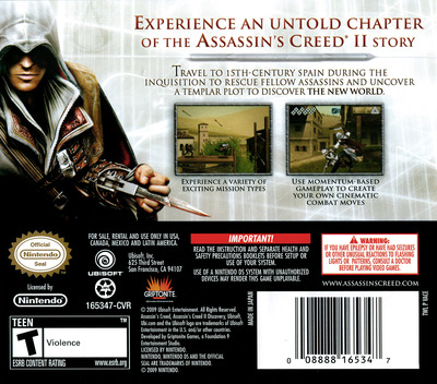 Assassin's Creed II - Discovery DS backM (VACE)