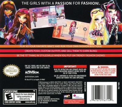 Bratz - Fashion Boutique DS backM (VBRE)