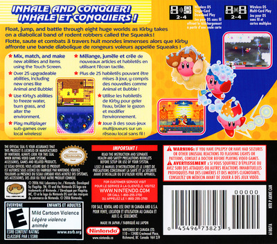 Kirby - Squeak Squad (Demo) DS backM (Y2ME)