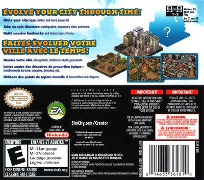 SimCity - Creator DS backM (YC2E)
