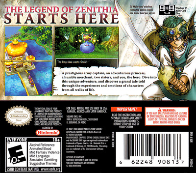 Dragon Quest IV - Chapters of the Chosen DS backM (YIVE)