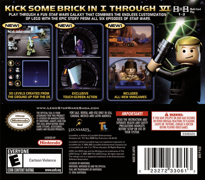 LEGO Star Wars - The Complete Saga DS backM (YLGE)