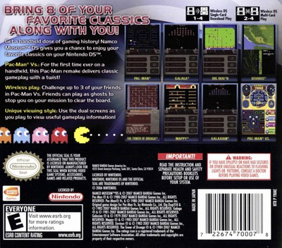 Namco Museum DS DS backM (YNME)