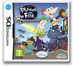 Phineas and Ferb - Across the 2nd Dimension DS cover (BZFX)