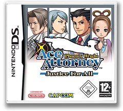 Phoenix Wright - Ace Attorney - Justice for All DS cover (A2GX)