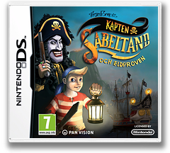Captain Sabertooth and the Trials by Fire DS cover (B49P)