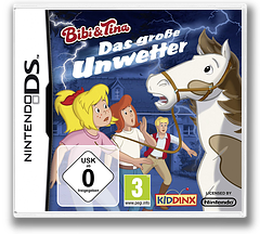Bibi & Tina - Das Grosse Unwetter DS cover (BBED)