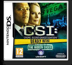 CSI - Crime Scene Investigation - Deadly Intent - The Hidden Cases DS cover (BCIP)