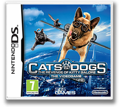 Cats & Dogs - The Revenge of Kitty Galore - The Videogame DS cover (BD3P)