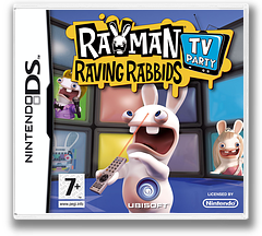 Rayman - Raving Rabbids - TV Party DS cover (CRIP)
