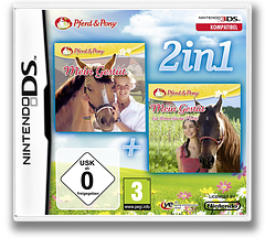2 in 1 - My Riding Stables + My Riding Stables - Life with Horses DS cover (TMGP)