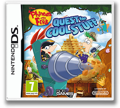 Phineas and Ferb - Quest for Cool Stuff DS cover (TPFP)