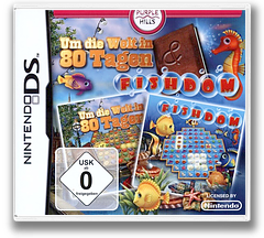 Around the World in 80 Days & Fishdom DS cover (TR3D)