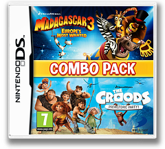 The Combo Pack - Madagascar 3 - Europe's Most Wanted + Croods - Prehistoric Party! DS cover (TRCP)