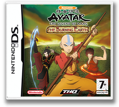 Avatar - The Legend of Aang - The Burning Earth DS cover (YAVX)