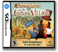 Professor Layton and the Curious Village DS cover (A5FE)