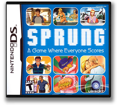 Sprung - A Game Where Everyone Scores DS cover (ACRE)