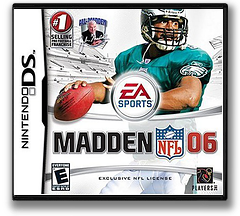 Madden NFL 06 DS cover (AM6E)
