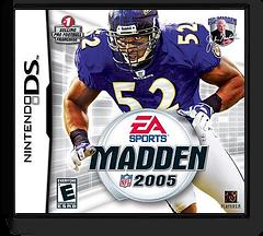 Madden NFL 2005 DS cover (AMDE)
