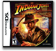 Indiana Jones and the Staff of Kings DS cover (AUJE)