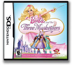 Barbie and the Three Musketeers DS cover (BB3E)