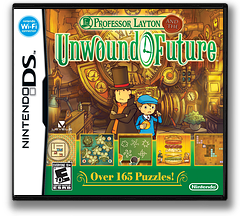 Professor Layton and the Unwound Future DS cover (C3JE)